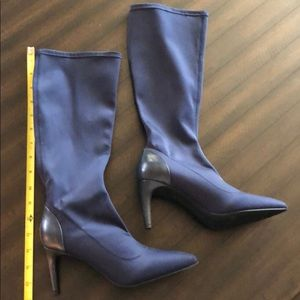 Shoes - Beautiful Navy calf high dress boot